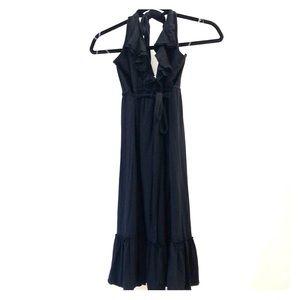Ella Moss Black Halter Top Dress With Ruffle